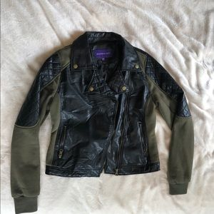 Olive Green and Black Moro Jacket